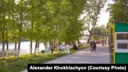 Городской парк культуры и отдыха. Уральск, 13 октября 2018 года.