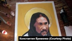 Портрет якутского шамана Александра Габышева
