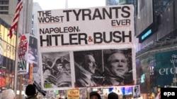 Нью-Йорк постоянно голосует за демократов, и здесь трудно встретить сторонника Джорджа Буша