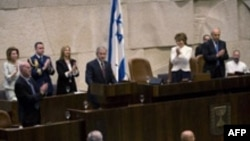 جورج بوش در دومين روز سفر خود به اسرائيل، در پارلمان اين کشور سخنرانی کرد. (عکس از AFP)