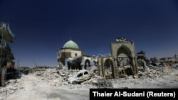 Xhamia Al-Nuri e shkatërruar