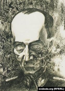 Ілюстрацыя Арлена Кашкурэвіча да твора А.Адамовіча «Карнікі»
