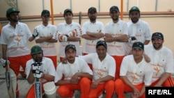 Radio Azadi Cricket Team takes a group photo during their first season