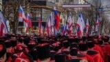 Митинг и шествие в Симферополе по случаю пятилетия аннексии Крыма. 15 марта 2019 года