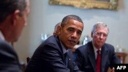 دیدار اوباما با رهبران جمهوریخواهان در کنگره