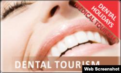Baner jedne od turističkih agencija za ponudu dental turizma u Srbiji