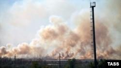 Дым от взрывающихся снарядов