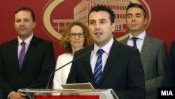Премиерот Зоран Заев на прес-конференција во Владата.