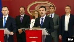 Архивска фотографија - Премиерот Зоран Заев и вице-премиерот Бујар Османи го презентираат Акцискиот план 3-6-9.