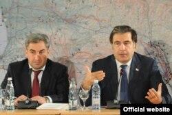 საქართველოს პრეზიდენტი მიხეილ სააკაშვილი და პრემიერ-მინისტრი ნიკა გილაური