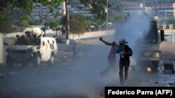 Антиправительственные протесты в Венесуэле, Каракас, 1 мая 2019 года