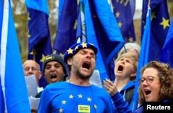 Британці протестують проти виходу Великої Британії із Євросоюзу. Лондон