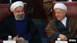 حسن روحانی و اکبر هاشمی رفسنجانی در نشست خبرگان رهبری