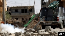 Сирийская оппозиция в ходе боевых действий применяет ракетные снаряды кустарного производства