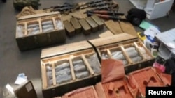 Weapons confiscated from the detained French citizen