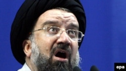"Ayatollah Ahmad Khatami said the opposition wanted only a ""thin layer"" of the Islamic republic."