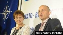 NATO bisnis forum, Verica Maraš i Kristijan Posa, foto: Savo Prelević
