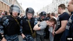 Задержание в Москве 12 июня