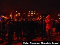 Народный сход дальнобойщиков в Петербурге