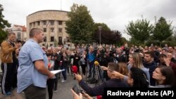 A rally in Banja Luka on August 27 was organized to protest against an attack on Vladimir Kovacevic of the independent Bosnian Serb television station BNTV.