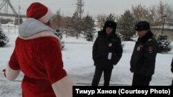 Полиция на акции гражданских активистов в Новосибирске