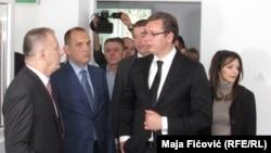 Aleksandar Vučić u Zdravstvenom centru u Severnoj Mitrovici