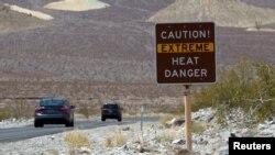 جاده ورودی به «دره مرگ» در ایالت کالیفرنیا