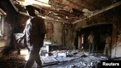 Американската амбасада во Триполи беше запалена во септември минатата година