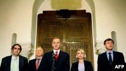 Liderii opoziţiei după consultările de la Cotroceni