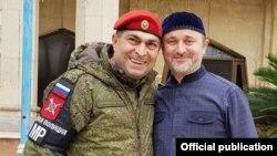 Боец военной полиции из Чечни и помощник муфтия Чечни Турко Даудов. Алеппо, Сирия