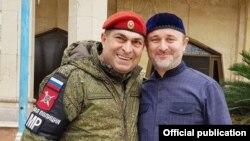 Боец военной полиции из Чечни и помощник муфтия Чечни Турко Даудов. Алеппо, Сирия (архивное фото)