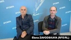Руководители Федерации спортивного рыболовства и охоты Абхазии – Онери Сангулия и Альберт Бондаренко