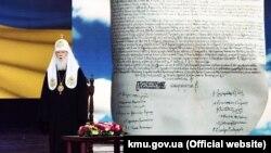 Почесний патріарх Православної церкви України Філарет під час урочистостей з нагоди його 90-річчя