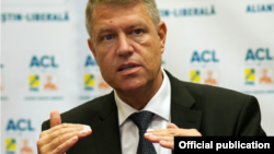Candidatul prezidențial Klaus Iohannis