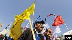 Sa jednog od radničkih protesta u Srbiji, foto iz arhive