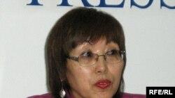 «Дом» қоғамдық ұйымының жетекшісі Майра Әбенова. Алматы, 10 ақпан, 2009 жыл.