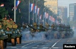 Военный парад в честь Дня победы и отечественной благодарности и Дня хорватских защитников, 20-я годовщина операции «Буря», Загреб, 4 августа 2015 года