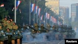 Военный парад на День победы и благодарности отчизне по случаю двадцатой годовщины операции «Буря». Загреб, 4 августа 2015 года