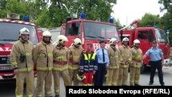 Територијалната противпожарна единица во Дебар