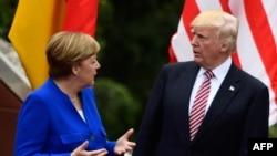 Angela Merkel i Donald Tramp