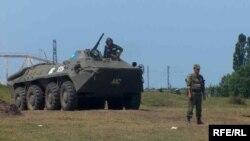 Российские солдаты в Грузии в 2008 году