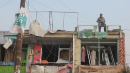 Шабуылдан қираған ғимарат. Кабул, 26 қаңтар 2014 жыл.