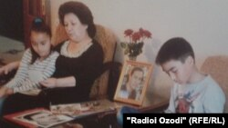 Саодат Кулиева с детьми Хуршеда