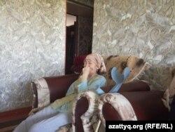 Бақытжан Ізтілеуовтің анасы Гүлжахан Әнуарова. Шымкент, 24 қыркүйек 2017 жыл.