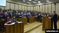 Парламентские слушания по бюджету Татарстана (архивное фото)