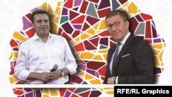 Лидерите на СДСМ и на ВМРО-ДПМНЕ, Зоран Заев и Христијан Мицкоски