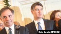Milorad Pupovac i Zoran Milanović na domjenku u povodu Božića