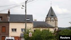 Crkva Sen Etjen du Ruvraj u blizini Ruana, sjeverozapadno od Pariza, Francuska, 26. juli 2016.