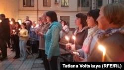 Санкт-Петербург, акция в память о блокадниках Ленинграда