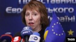 ЕО сыртқы саясат ведомствосының басшысы Кэтрин Эштон. Киев, 5 ақпан 2014 жыл.